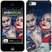 "Чехол на iPhone 5c Джокер и Харли Квинн ""3802c-23"""
