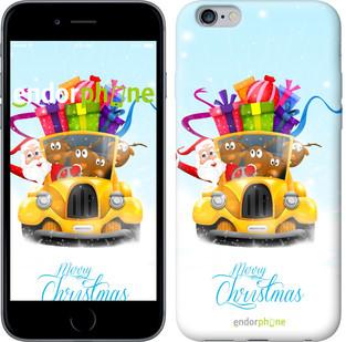 """Чехол на iPhone 7 Plus Весёлое Рождество на жёлтой машине """"215c-337"""""""