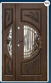 Двери входные полуторка с ковкой Економ 905