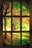 Светящиеся картины Startonight Окно в Лесу Природа Пейзаж Печать на Холсте Декор стен Дизайн дома Интерьер
