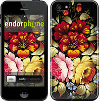 """Чехол на iPhone 5s Хохлома 6 """"829c-21"""""""