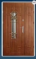 Двери входные полуторка с ковкой Економ 205