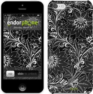 """Чехол на iPhone 5c Чёрно-белая хохлома """"1092c-23"""""""