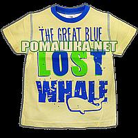 Детская футболка для мальчика р. 86 ткань КУЛИР-ПИНЬЕ 100% тонкий хлопок ТМ Merry Bear 3539 Желтый