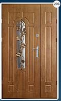 Двери входные полуторка с ковкой Економ 206
