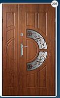 Двери входные полуторка с ковкой Економ 204