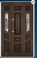 Двери входные полуторка с ковкой Економ 901