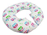 Подушка для беременных KIDIGO Рогалик - Совы (с наволочкой)