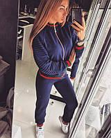 Женский спортивный костюм с довязом е-615359