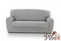 Чехол на диван натяжной 4-х местный Испания, Andrea White Андреа мраморный