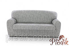 Чехол на диван натяжной 3-х местный Испания, Andrea White Андреа мраморный