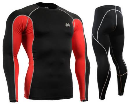 Комплект Рашгард Fixgear и компрессионные штаны CT-BRL+P2L-BS, фото 2