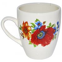Чашка Европа белая с деколью 400мл Славянск 50198