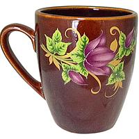 Чашка Европа коричневая с деколью 400мл Славянск 50198