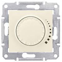 Диммер поворотно-нажимной  40-600 Вт. Schneider-Electric Sedna SDN2200823 слоновая кость