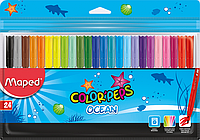 Фломастеры Maped COLOR PEPS Ocean 24 цвета (MP.845722)