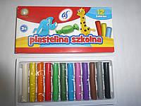 Пластилин 12 цветов ASTRA круглый