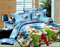 Комплект постельного белья полуторный ТМ Таg Смурфики