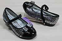 Туфли лаковые для девочки черные перламутровые тм Том.м р.27,28,29