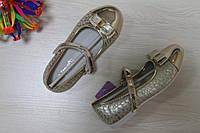 Лаковые туфли на девочку золотые с бантом тм Tom.m р.27,28