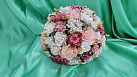 Свадебный букет-дублер в розовых тонах