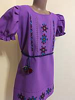 Вишиванка туніка плаття підліткова для дівчинки ручної роботи 10-12 років, фото 1
