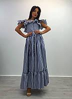 Длинное джинсовое весеннее платье i-1032644