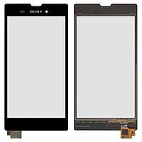 Сенсор (тачскрин) для Sony D5102 Xperia T3, D5103 Xperia T3, D5106 Xperia T3, черный