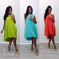Легкое свободное шелковое платье в расцветках g-1032651