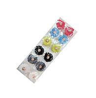 Заколки-крабы для волос цветные  12 шт. в упаковке, длина 3 см.