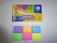 Моделина 6 цветов ASTRA флуоресцентная для запекания