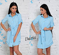 Женское платье-рубашка у-0332667