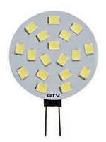 Лампа G4 GTV LED 2Вт 12VDC Ø28x40 с теплым светом