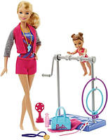 Barbie Барби тренер по гимнастике Gymnastic Coach Doll and Playset DKJ21