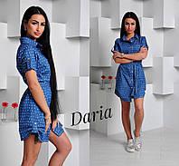 Джинсовое женское платье у-0332668