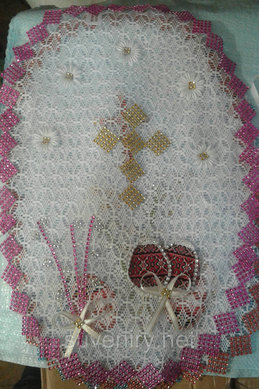 Очень красивые нарядные пасхальные салфетки на корзину