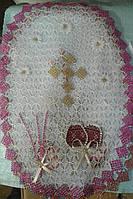 Очень красивые нарядные пасхальные салфетки на корзину, фото 1