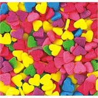 Посыпка кондитерская  Сердечки разноцветные мал.