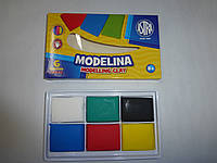 Моделина 6 цветов ASTRA для запекания