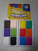 Моделина 12 цветов ASTRA для запекания