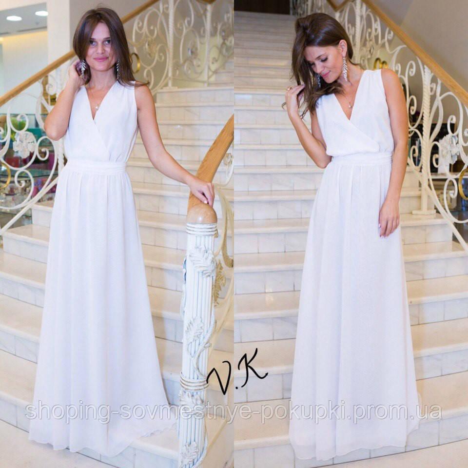 52073860362 Нарядное шифоновое платье в пол (очень много цветов) - МАГАЗИН ОДЕЖДЫ В  УКРАИНЕ