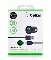 АВТО АДАПТЕР BELKIN Small 2 in 1 2100 mAh с кабелем MICRO