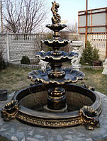 Фонтан для сада Жемчужина 4 яруса+бассейн
