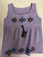 Сукня сарафан вишита для дівчинки домоткане полотно на 3-4 роки, фото 1