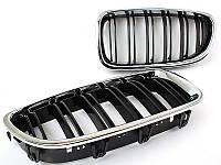 Решетка (ноздри) BMW F10 / F11 стиль М5 (хром рамка), фото 1