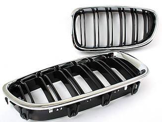 Решетка (ноздри) BMW F10 / F11 стиль М5 (хром рамка)