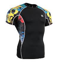Комплект компрессионная футболка Fixgear и компрессионные штаны C2S-B46+P2L-B46, фото 2