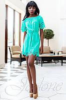 Модное бирюзовое платье-туника Кения Jadone Fashion 42-50 размеры