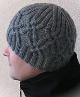 Мужская шапка вязаная