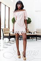 Модное розовое платье-туника Кения Jadone Fashion 42-50 размеры